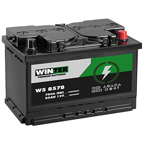 Winter Premium Autobatterie 12V 85Ah 780A/EN statt 72Ah 74Ah 75Ah 77Ah 80Ah