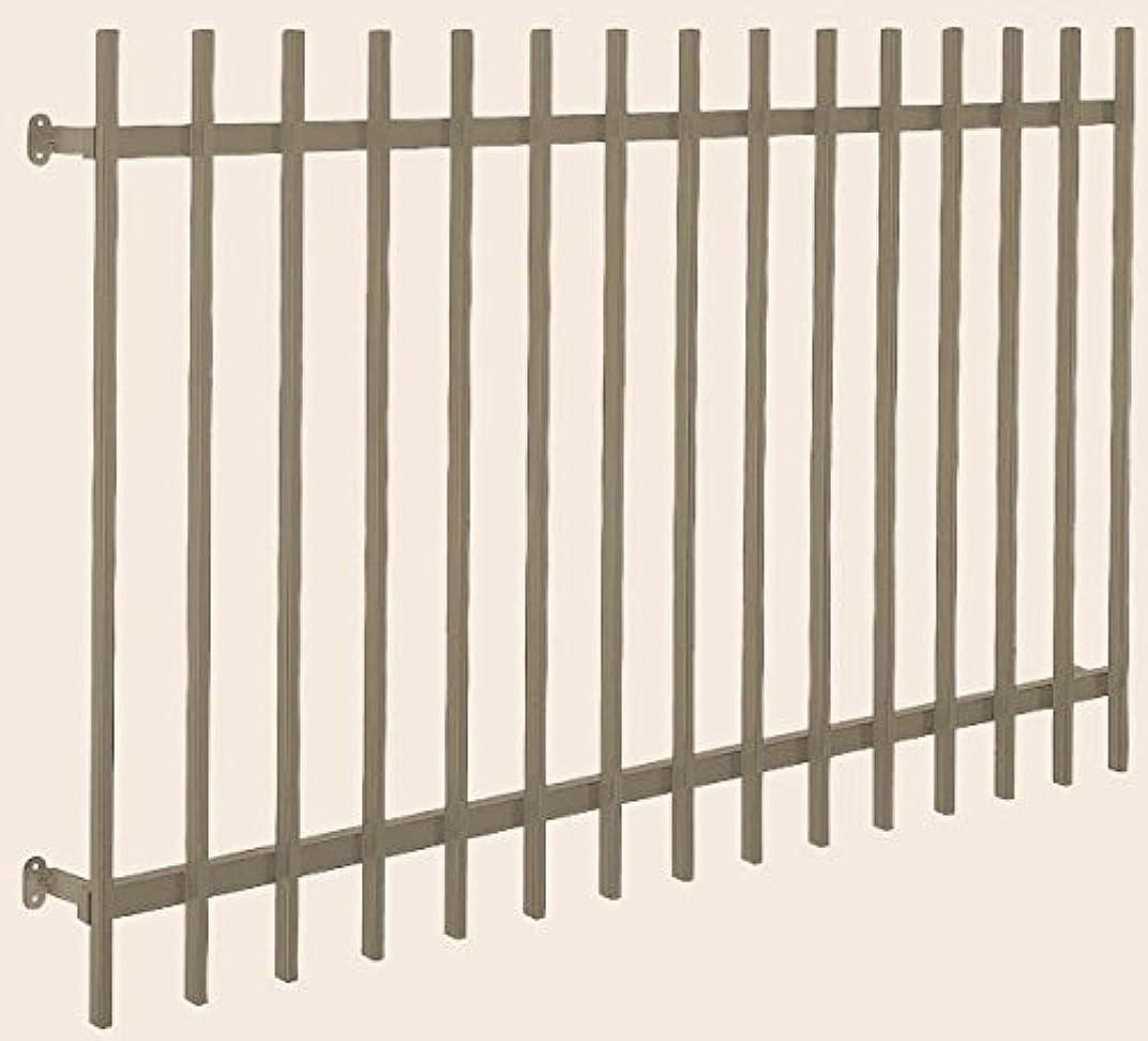インフルエンザ連邦と遊ぶリクシル アルミ面格子 A型 関東間 呼称16509 旧呼称6.0尺 W 1920 mm × H 1020 mm 木造用 標準ブラケット付き 製品色:シャイングレー(K)