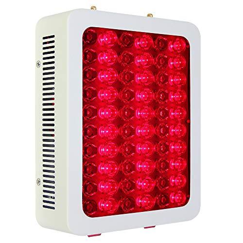 WODT 300W rote LED-Lichttherapie-Lampe Rot 660nm & Nahinfrarot 850nm für Haut- und Schmerzlinderung, Anti-Aging-Muskelleistung