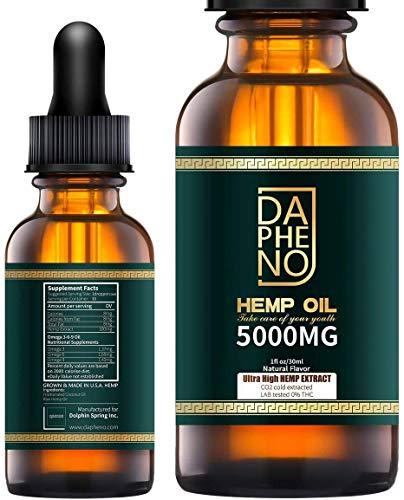 (2 Pack) 10000mg Hemp Oil, Natural Hemp Seed Oil...