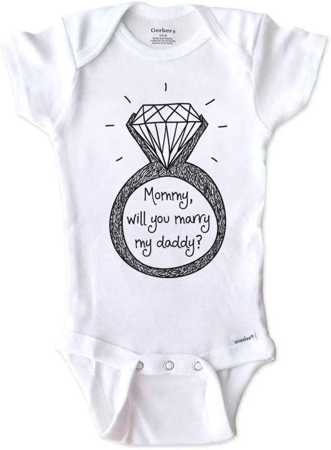 Ring Bearer marry me proposal infant Gerber onesie black bodysuit baby