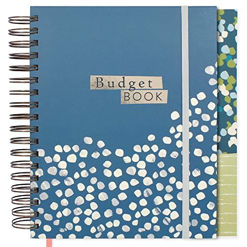 Big Budget Book de Boxclever Press. Organizador de presupuestos, Planificador mensual de finanzas personales con rastreador de gastos. Planner sin fecha con bolsillos. 24 x 21,5 cm. (Blue Spot)