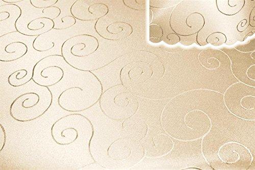 Unbekannt Mitteldecke Tischdecke eckig 110x160 cm Struktur damast Circle bügelfrei #1280 Creme Sand