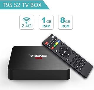 T95 S2 Android 7.1 tv Box with 1GB RAM 8GB ROM Amlogic S905W Quad-core 2.4G WiFi HDMI HD 3D 4K
