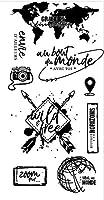 フレンチクリアシリコンスタンプ/DIYスクラップブッキング用シール/アルバム装飾クリアスタンプシートA088