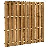 Tidyard panel de valla de jardín madera de pino fsc 180x170 cm