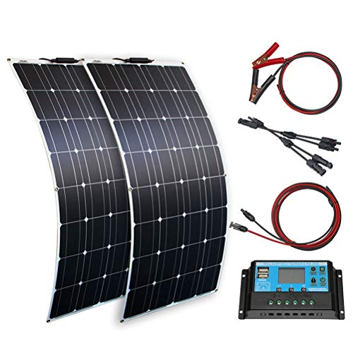 High song Paneles solares 100w 200w 12v Panel Solar Portátil Placa Flexible 16V 800W CÉLULAS Silicio Monocristalino (Color : 200w Solar System)