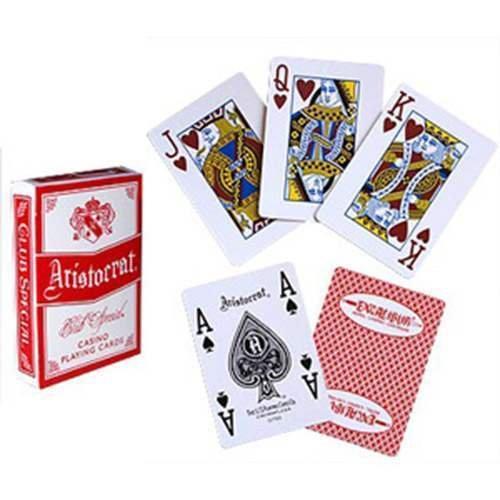 Mazzo di Carte Aristocrat - Casinò Excalibur I (jumbo index) - dorso rosso - Card Deck Aristocrat - Casinò Excalibur (jumbo index) - red back - Mazzi Aristocrat - Carte da gioco - Giochi di Prestigio e Magia
