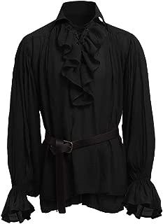 Best black ruffle shirt mens Reviews