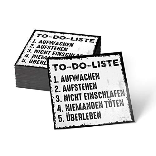 how about tee to-Do-Liste: Aufwachen, aufstehen, Nicht einschlafen, niemanden töten, überleben - Kühlschrank- / Whiteboard-Magnet