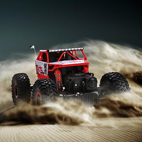 RC Auto kaufen Crawler Bild 4: s-idee HB-P1801 4WD Rock Crawler RC Car Geländewagen Auto, 1:18 Fernbedienung Monster Truck/Off Road Fahrzeug Rot*