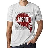 Photo de Homme T Shirt Graphique Imprimé Vintage Tee Thoughts Mirage Blanc Chiné