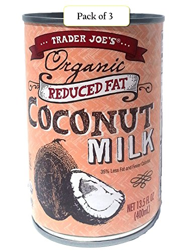 Trader Joe's Organic Coconut Milk, Reduced Fat, 13.5oz / 400 ml (Pack of 3)