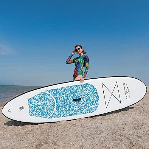TELAM Tabla de remo inflable de pie, 305 x 76 x 15 cm, ultraligera, ajustable, SUP inflable con funda impermeable para teléfono móvil, mochila, correa de seguridad