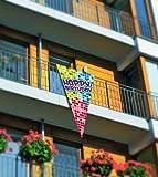 Happy Birthday Fahne Geburtstag Party-Deko bunt 90x150cm Einheitsgröße