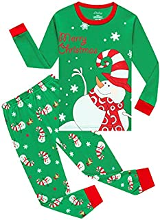 Image of Cute Merry Christmas Snowman Pajamas for Toddler Girls - See More Holiday Prints