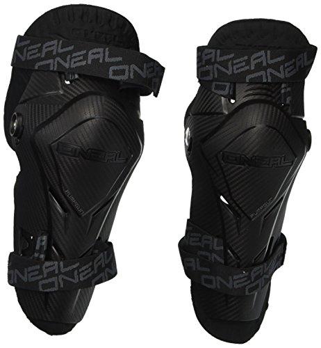 O\'NEAL | Knieprotektor | Kinder | Motocross Enduro | Hartplastikschale im Carbon Look, mit Thermoschaum gepolstert, (EU) 2016/425 | PUMPGUN MX Carbon Look Youth | Schwarz | One Size