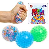 3 Set Water Beads Stress Relief Squeezing Balls for Kids and Adults:...