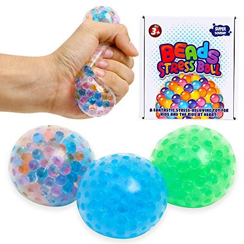 ZaxiDeel Antistressball 3 STK. Knautschball für Kinder und Erwachsene - Stressball zum Kneten, Knetball für Hände Therapie