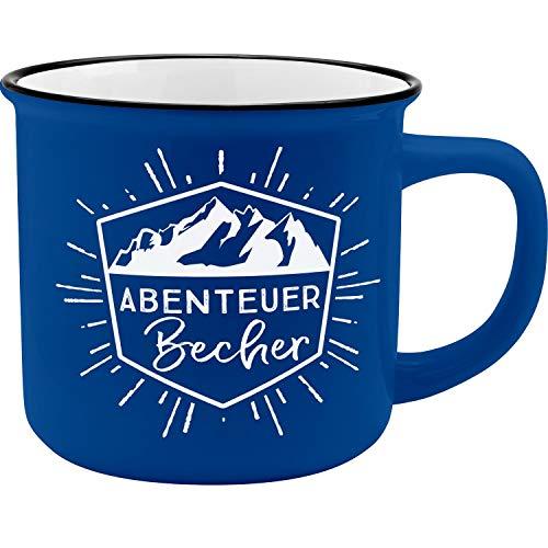 GRUSS & CO Gruss und Co 45795 Kaffeebecher Abenteuer, New Bone China Porzellan, 35 cl Becher