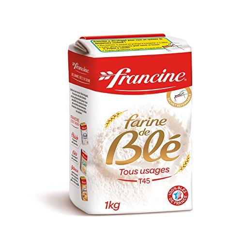 Francine Farine de Ble Tous Usi T45 Farina di Grano 2 X 1 KG