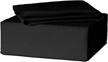Veratex Stellar Coordinating Solid Color Full Sheet Set, Black