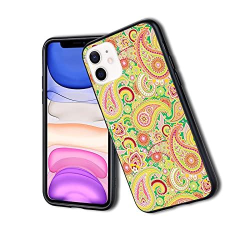 Patrón de cachemira persa tradicional con elementos étnicos orientales, vintage, funda para teléfono para iPhone, resistente al impacto, a prueba de golpes, doble capa