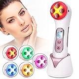 Aparato Facial, Facial Aparato Radiofrecuencia Massager beauty Machine Removedor de acné Antiarrugas/Envejecimiento, ION Photon Cuidado de la piel cosmético 5 en 1