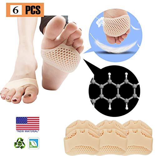Mittelfuß Pads, Ball von Fuß Kissen (3 Paar), NEUES MATERIAL, Vorfuß Pads, atmungsaktiv und weich Gel, Best für Diabetiker Füße, Hornhaut, Blasen, Vorfuß Schmerzen verklagt werden.