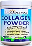 BioOptimal Collagen Powder - Collagen Peptides, Grass Fed, for Skin, Hair, Nails & Joints, Collagen Supplements for Women & Men, Pasture Raised, Dissolves Easily, 300 Grams