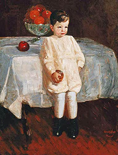 Oil Paint by Number Kits Digital Painting by Numbers for Adults Paint by Number for Kids 16X20 Inch George Benjamin LUKS C Sulky Boy Oil On Canvas