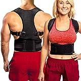 Back Brace Posture Corrector for Men & Women - Adjustable Back Straightener for Posture Correction - Builds Muscle Memory - Provides Neck, Shoulder, Lower & Upper Back Pain Relief (Large)