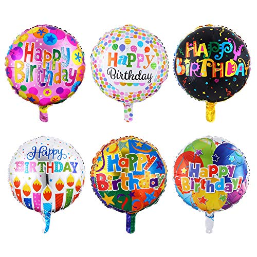 "NPLUX 18"" Happy Birthday Foil Balloons Round Mylar Helium Balloon Party  Decorations Supplies,12 Pack- Buy Online in Pakistan at desertcart.pk.  ProductId : 89268654."