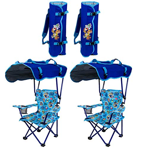 Kelsyus Kids Paw Patrol Portable Folding Kid's Canopy Lounge Chair (2 Pack)