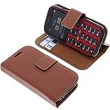 foto-kontor Tasche für Doro Primo 366 Book Style braun