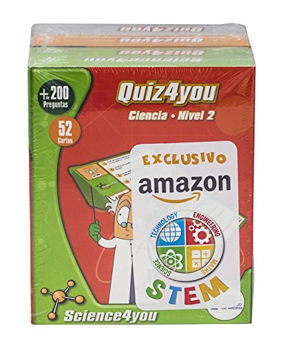 Science4you Pack Exclusivo Amazon 4xQuiz4you Ciencias, Dinosaurios, Cuerpo humano y Clculo mental