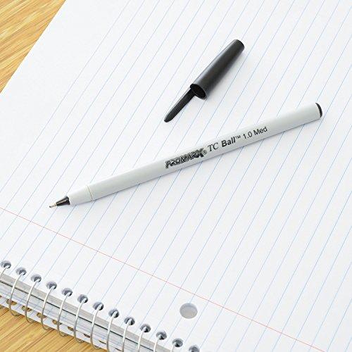 Promarx TC Ball Premium Stick Pens, Medium Point, 1.0 mm, Black Ink, 12 count Photo #3