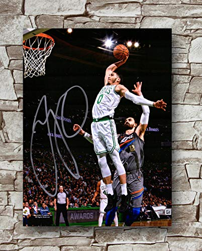 Zero.o Jayson Tatum Boston Celtics Autographed Poster Standard Size | 18-Inches by 24-Inches | Jayson Tatum Posters Wall Poster Print