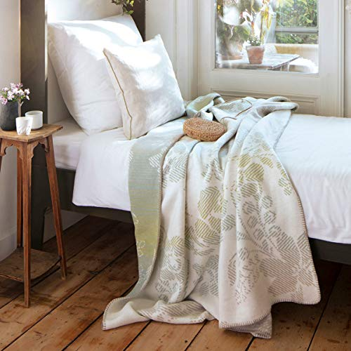 biederlack Flower Bed Kuscheldecke I aus Baumwolle & Dralon I Überwurfdecke in 150x200 cm I Made in Germany I Öko-Tex Standard 100, graugrün