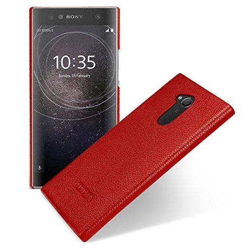 Tetded Premium Leder Schutzhülle für Sony Xperia XA2Ultra H4213H4233Dual Sim, Snap Cover, Rot