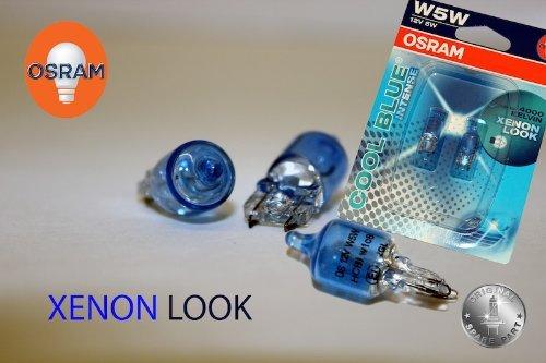 Original OSRAM 1 - Set T10 W5W 12V 5W COOL BLUE INTENSE XENON LOOK 4000 KELVIN Soffitte Standlicht Parklicht Scheinwerfer PREMIUM