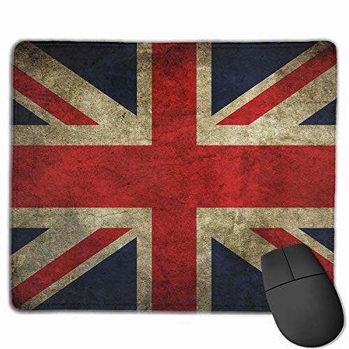 Mouse Pad UK Flag Vintage Art Rectangle Rubber Mousepad 11.81 X 9.84 Inch Gaming Mouse Pad with Black Lock Edge