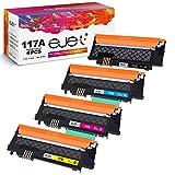 ejet 117A Cartuchos de tóner Compatibles para HP W2070A W2071A W2072A W2073A para HP Color Laser MFP 179fnw,MFP 178nw,MFP 178nwg,MFP 179fwg,150a,150nw (Negro/Cian/Magenta/Amarillo, Paquete de 4)