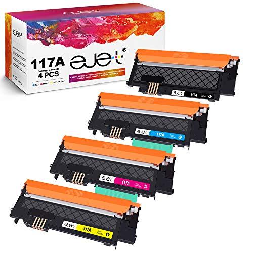 ejet Kompatible Tonerkartuschen 117A für HP W2070a W2071a W2072a W2073aToner für HP Color Laser MFP 178nw, MFP 178nwg, MFP 179fnw, MFP 179fwg, 150nw, 150w, Laser 150a (Schwarz/Cyan/Magenta/Gelb)