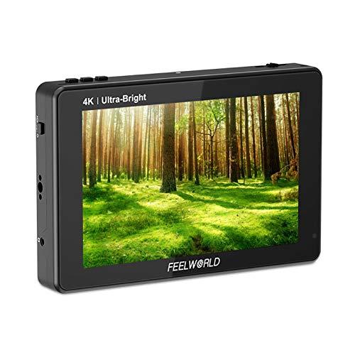 Feelworld LUT7 Pro 7 Pulgadas DSLR Camera Field Monitor Video Monitor 2200nits 3D LUT Panel IPS con Pantalla táctil con Entrada HDMI 4K / 3G-SDI Salida de alimentación Externa Diseño