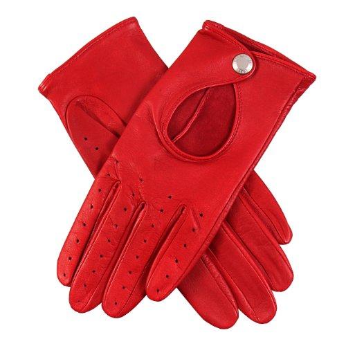 Dents Damen Handschuh, Rot (Berry), 34 (Herstellergröße: 8 UK)