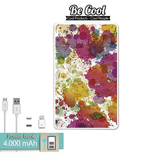 BeCool pow-be001-bl-l1043 4000 mAh externe accu en USB-kabel, regendruppel-design schilderij