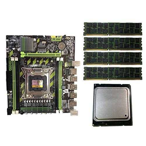 LuohuiFang X79G Turbo LGA2011 Combos - Placa base E5 2689 CPU 4 x 8 GB DDR3 PCI-E NVME M.2 SSD para In-Tel