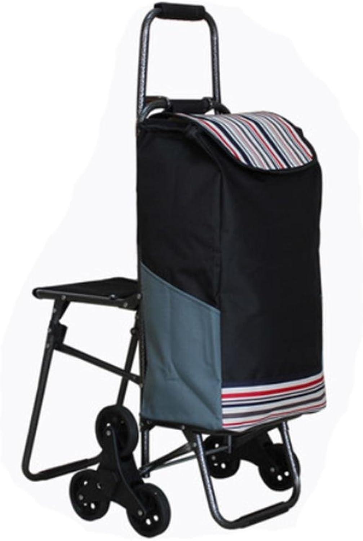 J&M Folding Shopping Cart, Stair Climbing Cart Grocery Utility Cart Wheel Bearings , 11