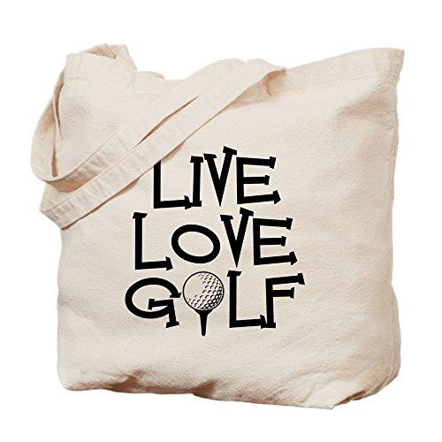 CafePress Live, Love Golftasche, canvas, khaki, M